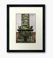 The Column At Vendome - The Base © Framed Print