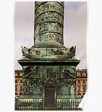The Column At Vendome - The Base © Poster