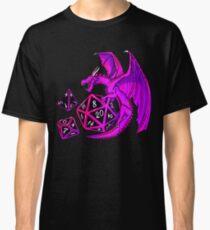 Pink Dice Dragon - d20 d10 d4 Classic T-Shirt