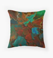 Swivel and Swirl Throw Pillow