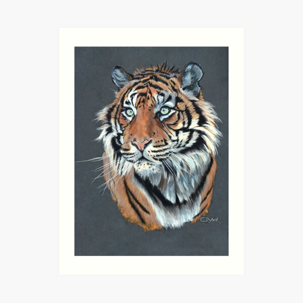 Portrait de tigre Impression artistique