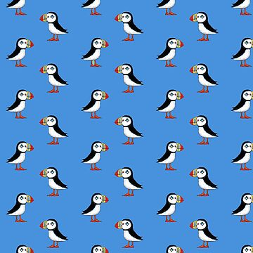 Sea Puffin Blue by FunkyScottish