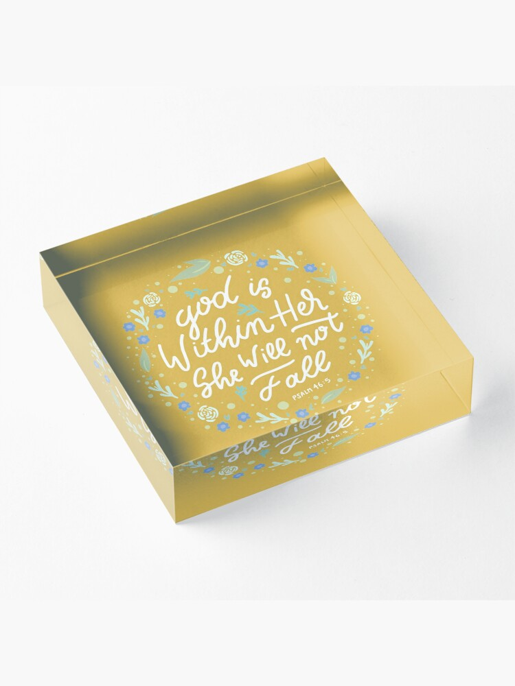 Alternate view of Christian Quote Acrylic Block