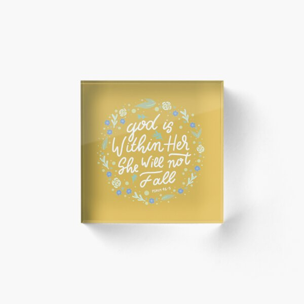 Christian Quote Acrylic Block
