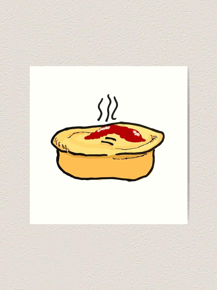 Alternate view of Meat Pie Art Print