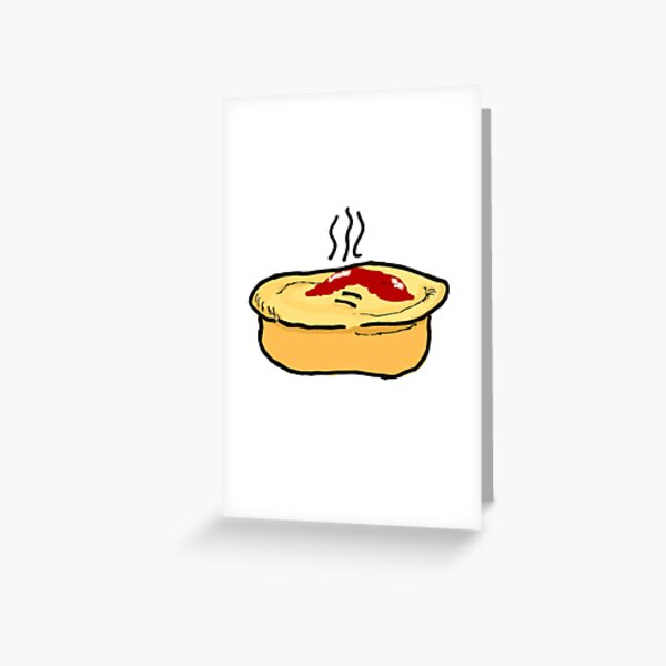 Meat Pie Greeting Card