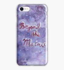 Beyond the matrix watercolor illustration iPhone Case/Skin