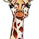 Watercolour Giraffe by harrietalicefox