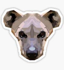Topographic: Crocuta (Spotted Hyaena) Sticker