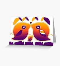 Sunset Love Bird Family Greeting Card