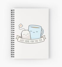 Cuaderno de espiral Justo aquí para el té