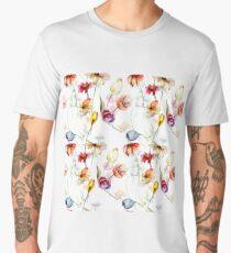 Seamless pattern with wild flowers Men's Premium T-Shirt