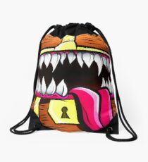 Mimic Chest - Dungeons & Dragons Monster Loot Drawstring Bag