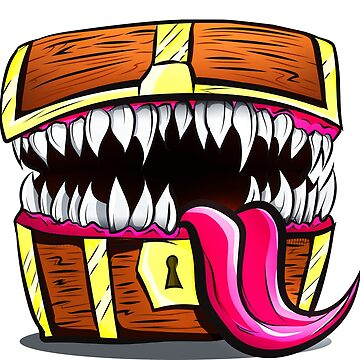 Mimic Chest - Dungeons & Dragons Monster Loot by Nocturnalcultur