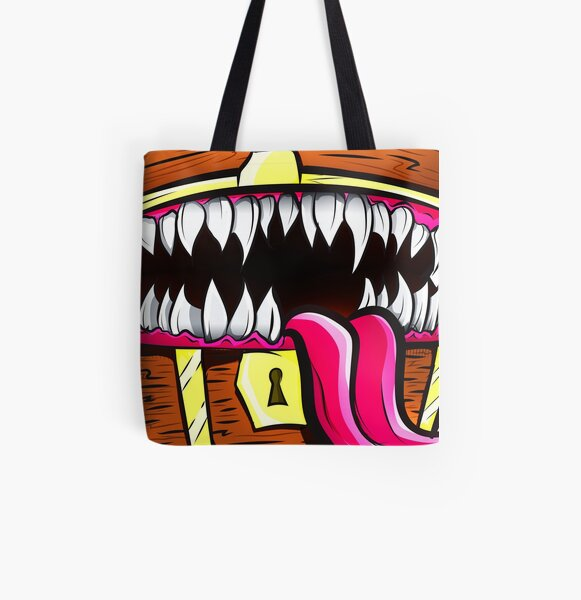 Mimic Chest - Dungeons & Dragons Monster Loot All Over Print Tote Bag