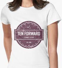 Ten Forward - Rustic Logo Design Women's Fitted T-Shirt