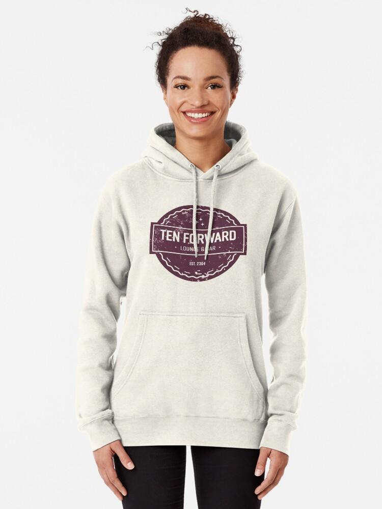Alternative Ansicht von Zehn Vorwärts - Rustikales Logo Design Hoodie