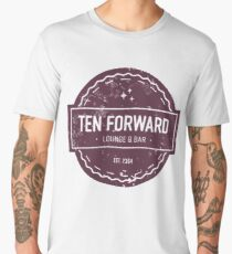 Ten Forward - Rustic Logo Design Men's Premium T-Shirt