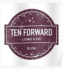Ten Forward - Rustic Logo Design Poster