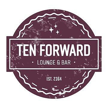 Ten Forward - Rustic Logo Design by ladybeadesign