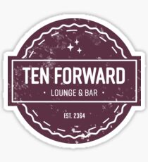 Ten Forward - Rustic Logo Design Sticker