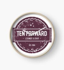 Ten Forward - Rustic Logo Design Clock