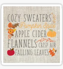 Fall Feelings, linen Sticker