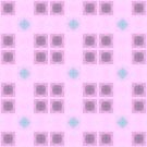 Delicate pink squares pattern by Silvia Ganora