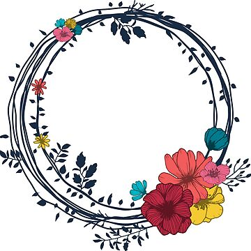 Boho Florals Nr. 2 - Wreath, Bright by MonJaro