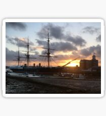All at Sea - No3 - HMS Warrior Sticker