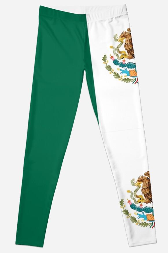Legging «MÉXICO, MEXICANO, Bandera mexicana, CUBIERTA COMPLETA ...