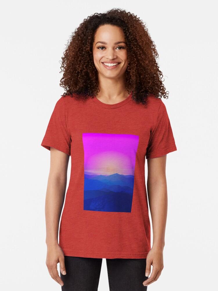 Alternate view of Australia mountains Tri-blend T-Shirt