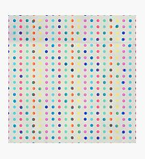Watecolor dots Photographic Print
