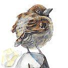 Sparrow by Yana Art
