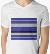 Strips - blue,gray, black and white. T-Shirt