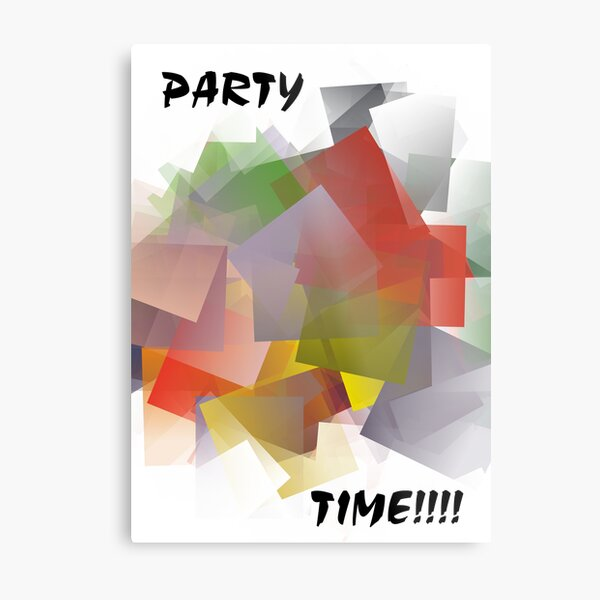 Jiggler Party Metal Print