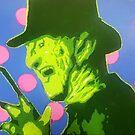 Freddy Krueger Horror Icon Pop Art by rebeccagalardo
