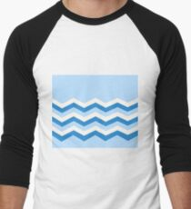 Abstract, geometric, zigzag, strips - blue and white. T-Shirt