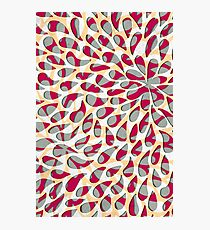 Organic Petals Pattern Magenta Gray Photographic Print