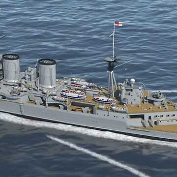 HMS Hood 1937 - Stern To Bow - Mediterranean Sea by chrissnook