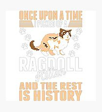 Once Upon Time Picked Ragdoll Kitten Rest History Photographic Print