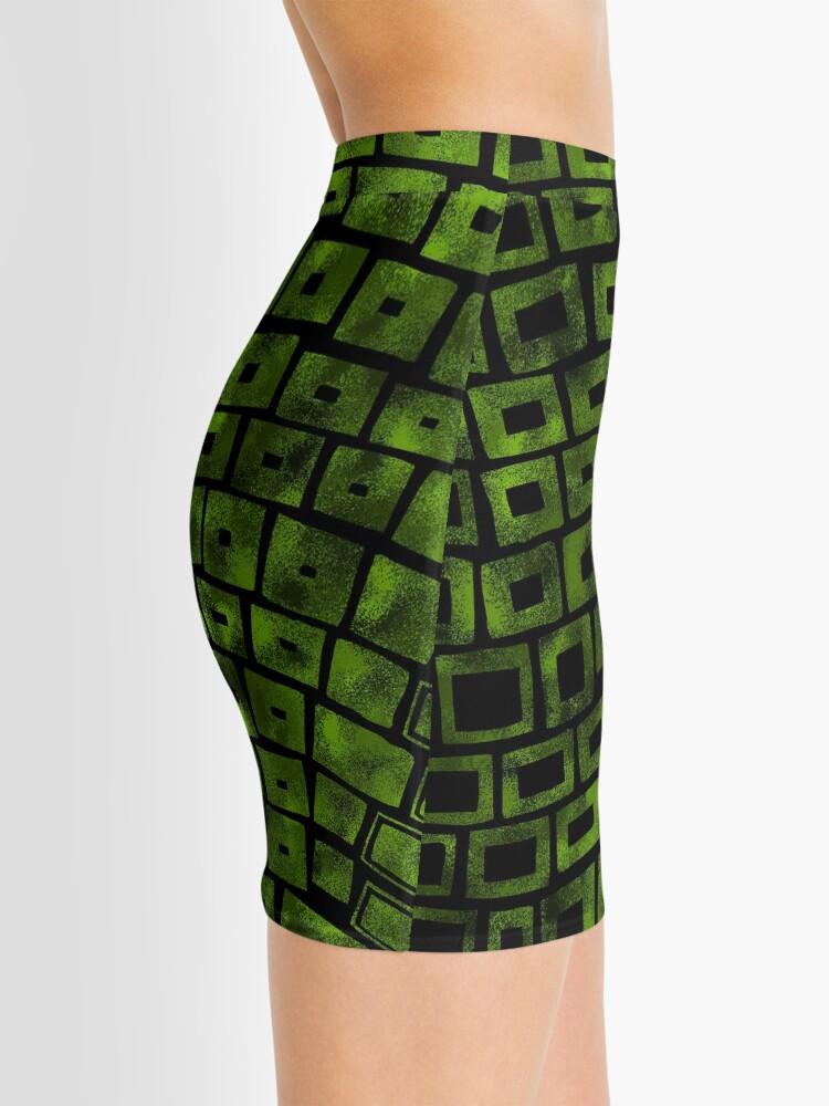 Alternate view of Green Wave Mini Skirt