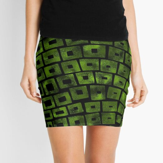 Green Wave Mini Skirt