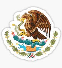 MEXICO, MEXICAN, EAGLE SYMBOL, Mexican Flag, Flag of Mexico, Bandera de México, Pure & simple Sticker