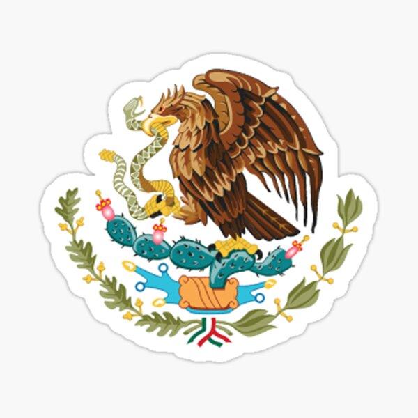 MEXIKO. MEXIKANER. EAGLE SYMBOL, mexikanische Flagge, Flagge von Mexiko, Bandera de México, schlicht und einfach. Sticker