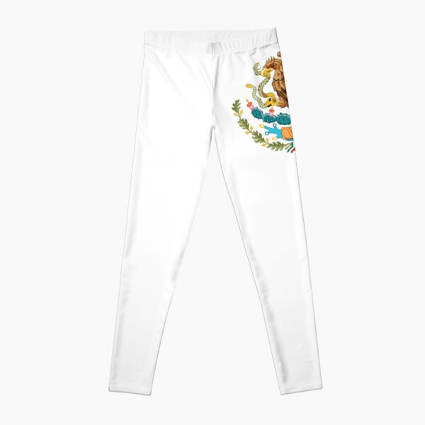 MEXICO. MEXICAN. EAGLE SYMBOL, Mexican Flag, Flag of Mexico, Bandera de México, Pure & simple. Leggings
