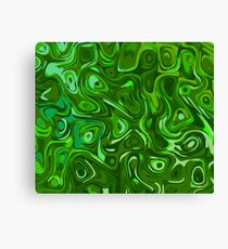 Green Psychedelic Pattern Canvas Print