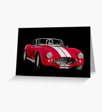1966 Shelby Cobra 'Pass Side' Greeting Card