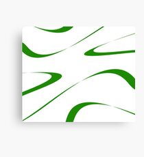 Abstract - green and white. Canvas Print