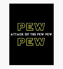 Attack of the Pew Pew Photographic Print